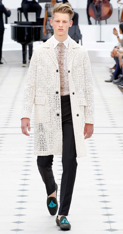 Burberry Prorsum - Spring 2016 Menswear cut - Ricamificio Paolo Italy - The Italian Embroidery